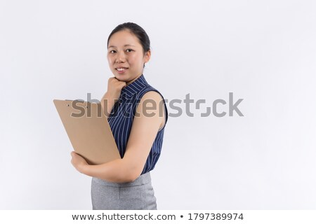 Portrait of young woman high key against white Stock photo © jagston