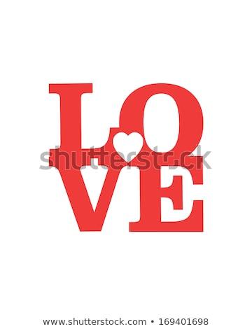 любви письма 3D цвета красный оранжевый Сток-фото © marinini