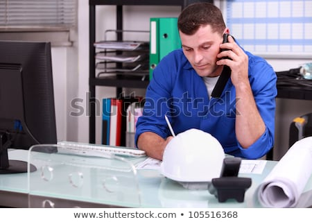 construction foreman speaking on the phone stock photo © photography33