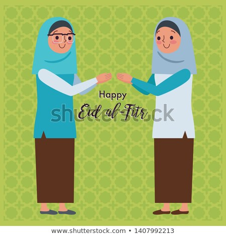 two girls happy forgive each other Stock photo © ampyang