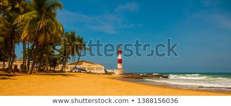 Farol guardião casa poderoso ilha segurança Foto stock © smithore