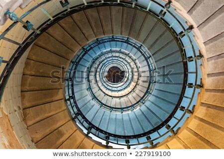 Yüksek deniz feneri merdiven lüks merdiven Metal Stok fotoğraf © smithore