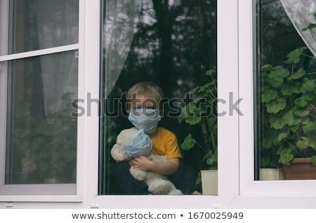 Child at the windowsill Stock photo © lovleah