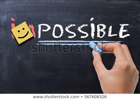 изображение невозможное возможное слово написанный Сток-фото © bbbar
