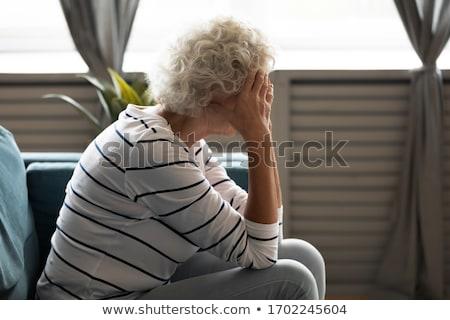 senior · mulher · em · pé · caminhada · olhando - foto stock © photography33