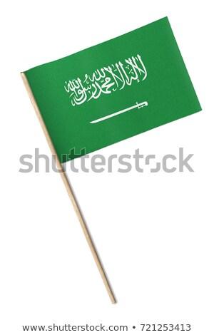 Minyatür bayrak Suudi Arabistan yalıtılmış Stok fotoğraf © bosphorus