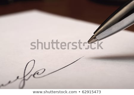 Formal Letter on White Lined Paper stock photo © bobbigmac
