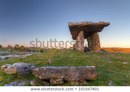 Ierland · zon · zonsondergang · natuur · reizen · steen - stockfoto © phbcz
