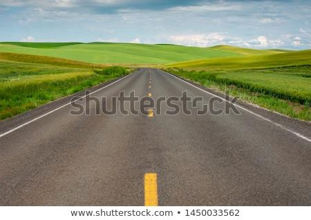 estrada · dramático · pôr · do · sol · céu · sol · abstrato - foto stock © pterwort