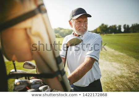 golfozó · kicsi · csirke · fehér · 3d · render · golf - stock fotó © photography33
