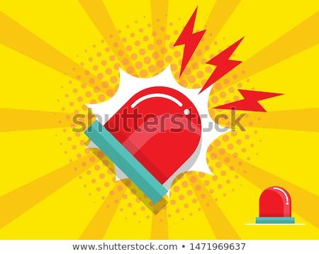 Sauvetage lumières avertissement véhicule lumière sécurité Photo stock © manfredxy