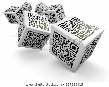 3d qr code cube  Stock photo © nasirkhan