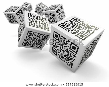 3d qr code cube  stock photo © nasirkhan