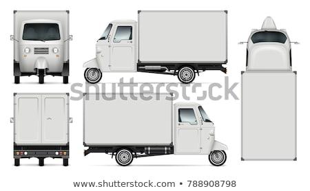 Blanco tres nieve camión limpio Foto stock © lkeskinen