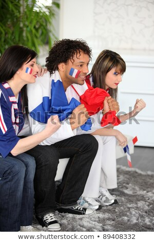 Tense French soccer supporters Stock photo © photography33