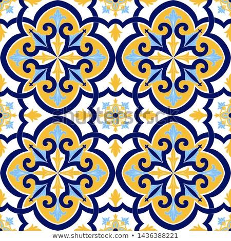antik · elnyűtt · csempék · fal · arab · csempézett - stock fotó © homydesign