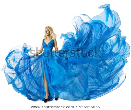 Young slim woman in fluttering dress Stock photo © feedough