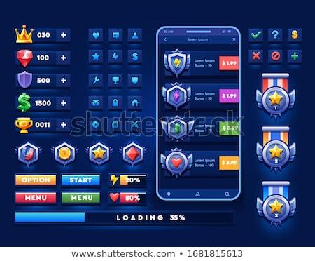 Ruby button Stock photo © dvarg