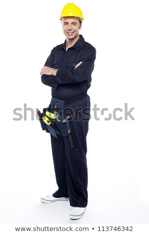 Repairman with tools pouch around his waist stock photo © stockyimages