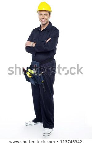 ferramentas · em · torno · de · cintura · posando - foto stock © stockyimages