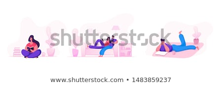 banho · relaxante · estância · termal · momento · folha - foto stock © danielgilbey