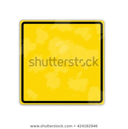 citromsárga · izolált · vigyázat · felirat · fehér · utazás - stock fotó © shutswis