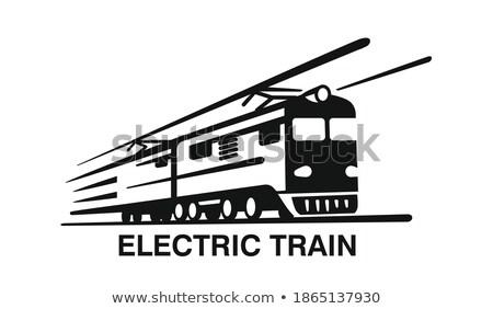 Diesel lokomotywa stylu obraz pociągu Zdjęcia stock © xochicalco