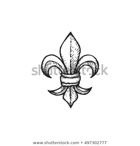 simge · imzalamak · çiçek · bağbozumu · model · zambak - stok fotoğraf © creative_stock