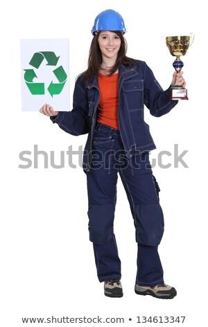 Woman winning price for environmental awareness Stock photo © photography33