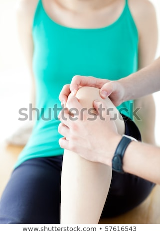 emerging man doing fitness exercises with a woman in gym stock photo © wavebreak_media