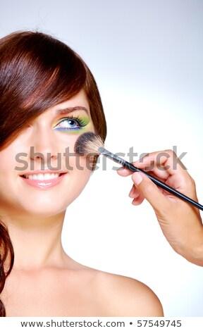 Encantador mujer maquillaje de ojos blanco cara moda Foto stock © wavebreak_media
