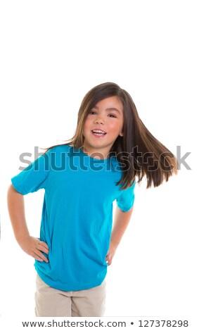 かわいい · 幸せ · アジア · 少女 · 笑みを浮かべて - ストックフォト © lunamarina