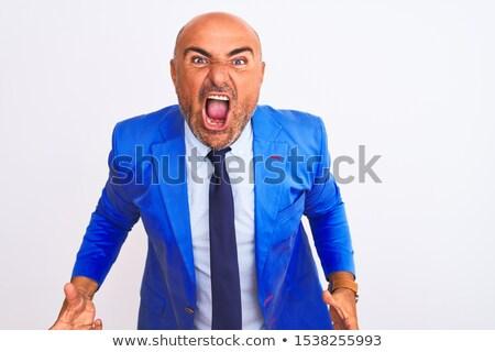 бизнесмен ярость слез одежды человека Cartoon Сток-фото © blamb