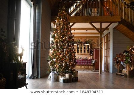 Rosso stanza casa home frame Foto d'archivio © H2O
