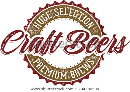 Vintage Craft Beer Sign Stock photo © squarelogo
