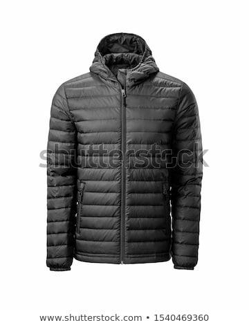 zwarte · mannelijke · winter · vest · geïsoleerd · mode - stockfoto © ozaiachin