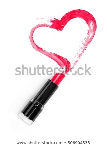 красный след помада сердце белый любви Сток-фото © wavebreak_media