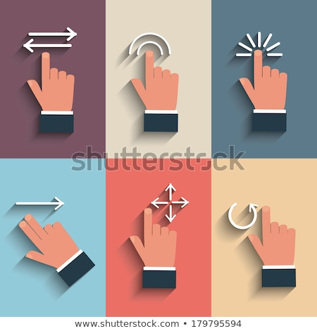 Cartoon Hand - Finger Pointing Pinch - Vector Illustration Stock photo © indiwarm
