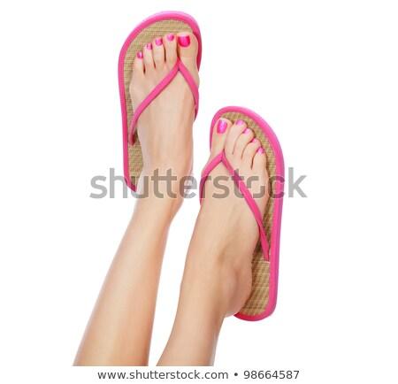 Keurig vrouwelijke benen witte vrouw naakt Stockfoto © Nobilior