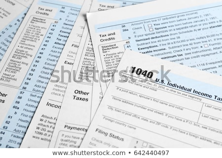 Tax forms Stock photo © kenishirotie