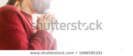 istentisztelet · hegy · fiatalember · fény · égbolt · kő - stock fotó © lightsource