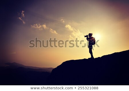 dramatisch · wolk · zonnestralen · foto · hemel · zonsondergang - stockfoto © snapshot