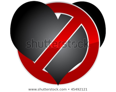 no love no couples   forbidden red warning sign stock photo © redkoala