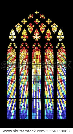 Stained glass in cathedral Stock photo © ifeelstock