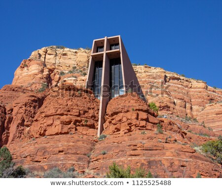 Kapelle heilig Kreuz Arizona Set rot Stock foto © vwalakte