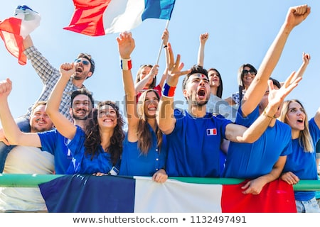 A group of friends supporting the French football team Stock photo © photography33