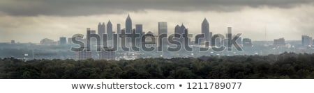 Atlanta · Grúzia · reggel · idő · kék · sziluett - stock fotó © andreykr