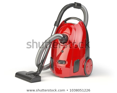Aspirateur vertical facile isolé blanche propre Photo stock © ABBPhoto