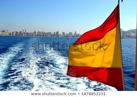 испанский флаг солнце желтый Лучи изолированный Сток-фото © marinini
