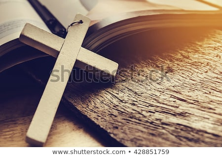 Cross and Bible Stock photo © elenaphoto